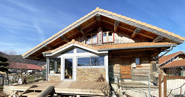 agrandissement chalet traditionnel