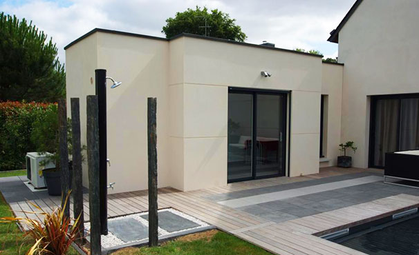 extension maison beton